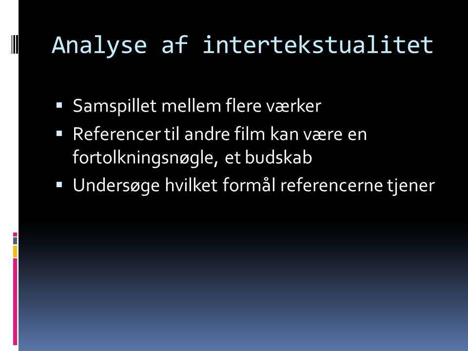 Analyse af intertekstualitet