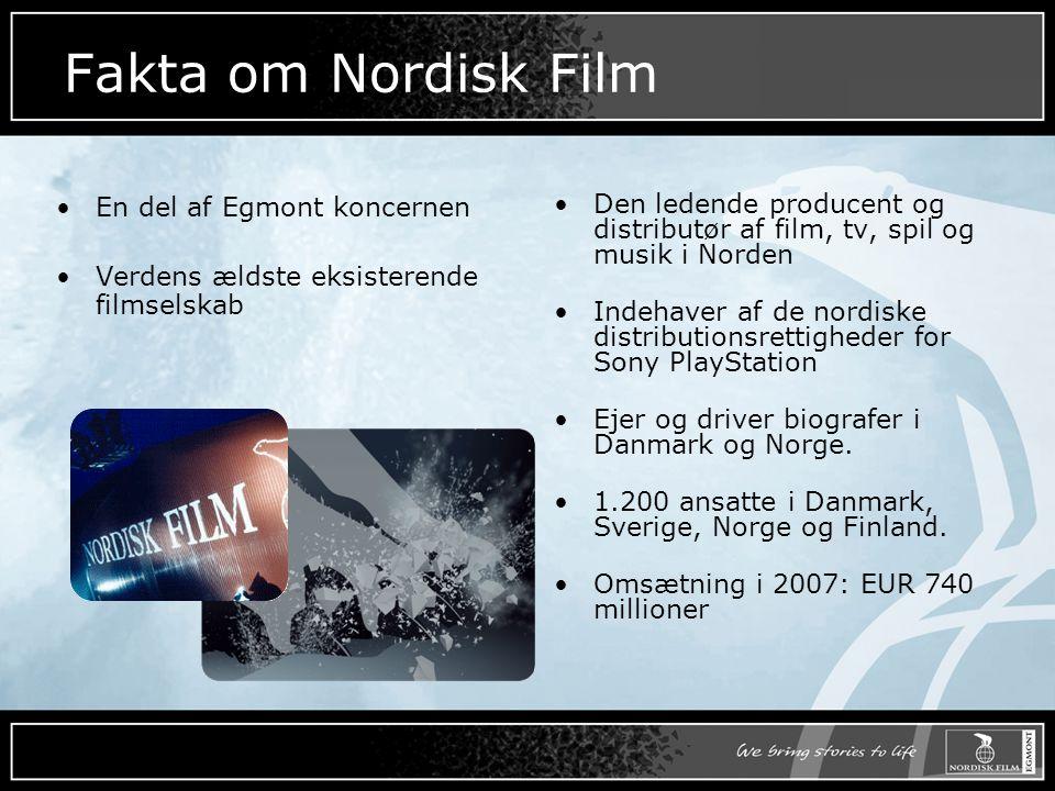 Fakta om Nordisk Film En del af Egmont koncernen