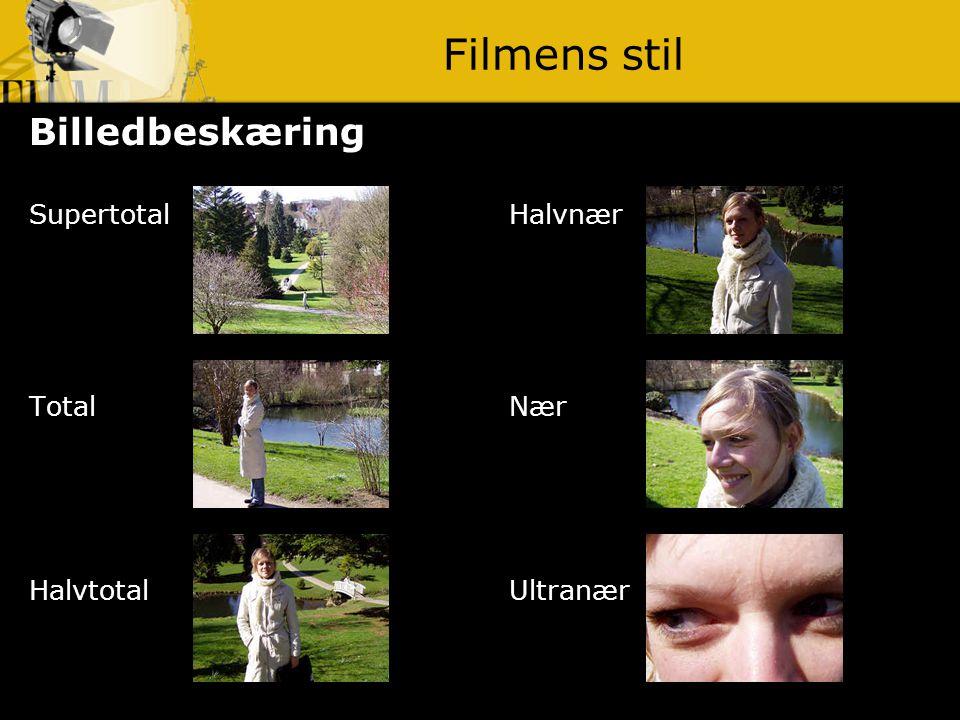 Filmens stil Billedbeskæring Supertotal Halvnær Total Nær