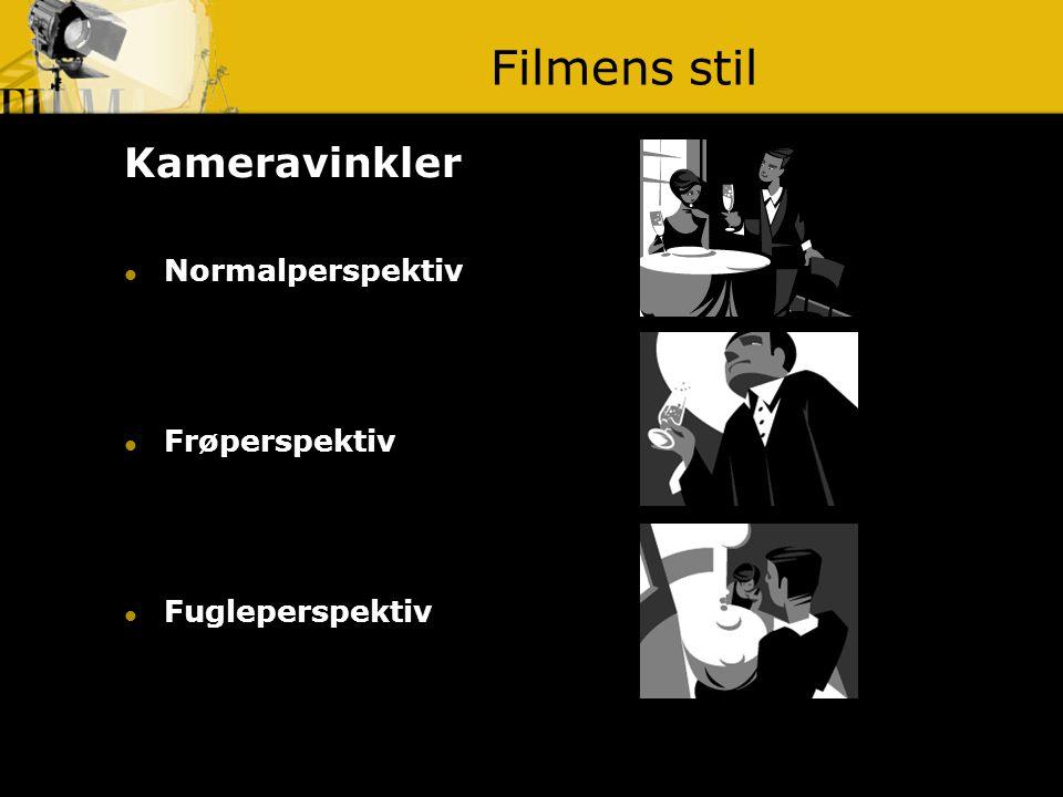 Filmens stil Kameravinkler Normalperspektiv Frøperspektiv