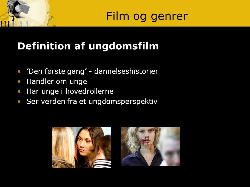 Film og genrer Definition af ungdomsfilm