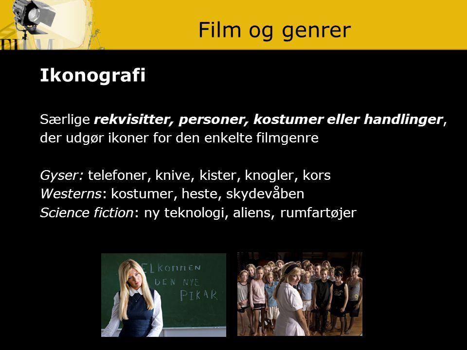 Film og genrer Ikonografi