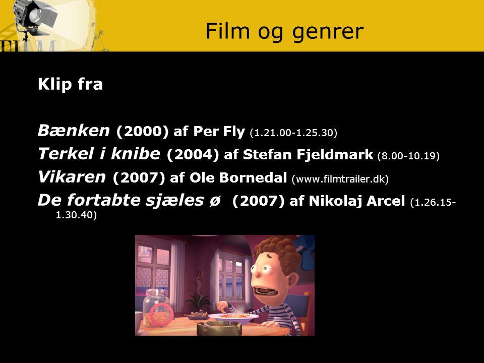 Film og genrer Klip fra Bænken (2000) af Per Fly (1.21.00-1.25.30)