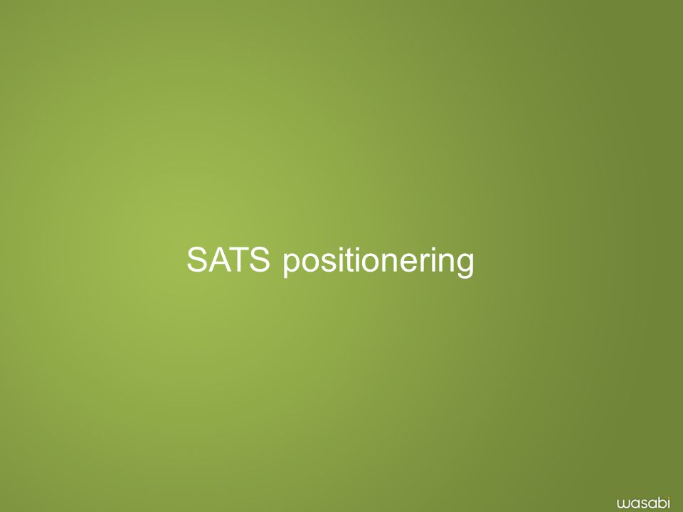 SATS positionering