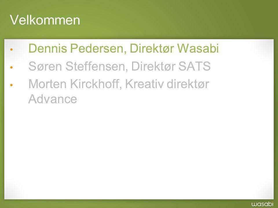 Velkommen Dennis Pedersen, Direktør Wasabi