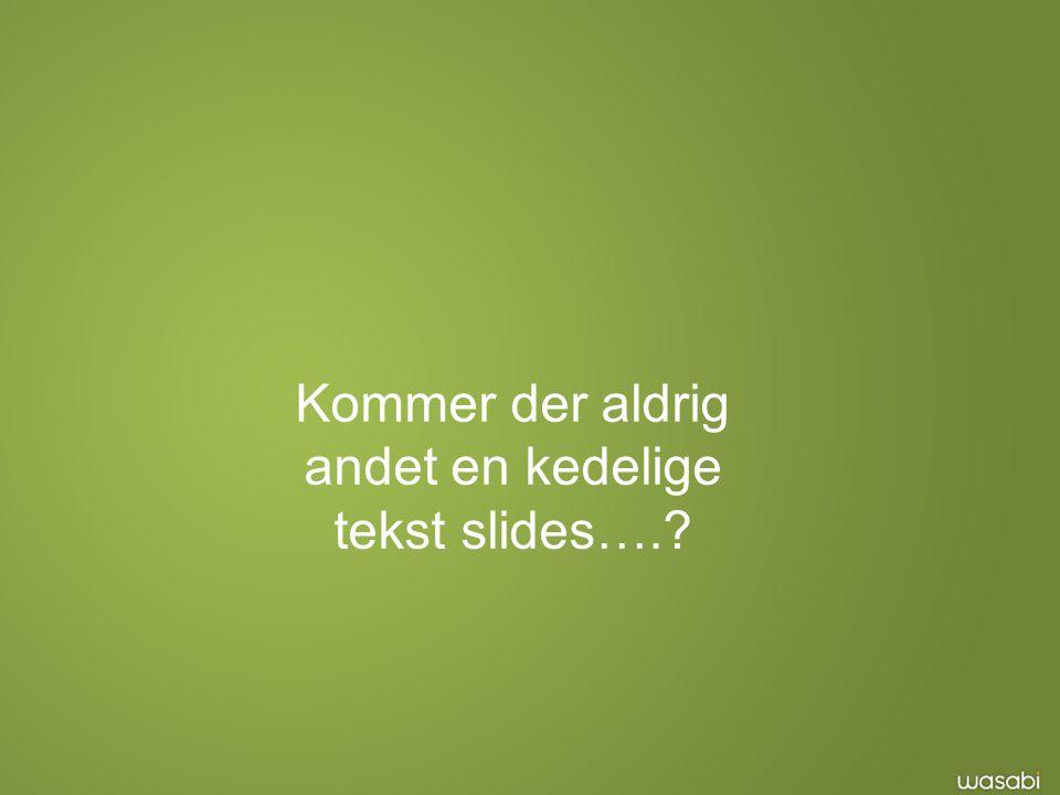 Kommer der aldrig andet en kedelige tekst slides….
