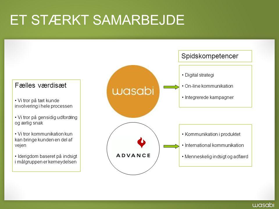 ET STÆRKT SAMARBEJDE Spidskompetencer Fælles værdisæt Digital strategi