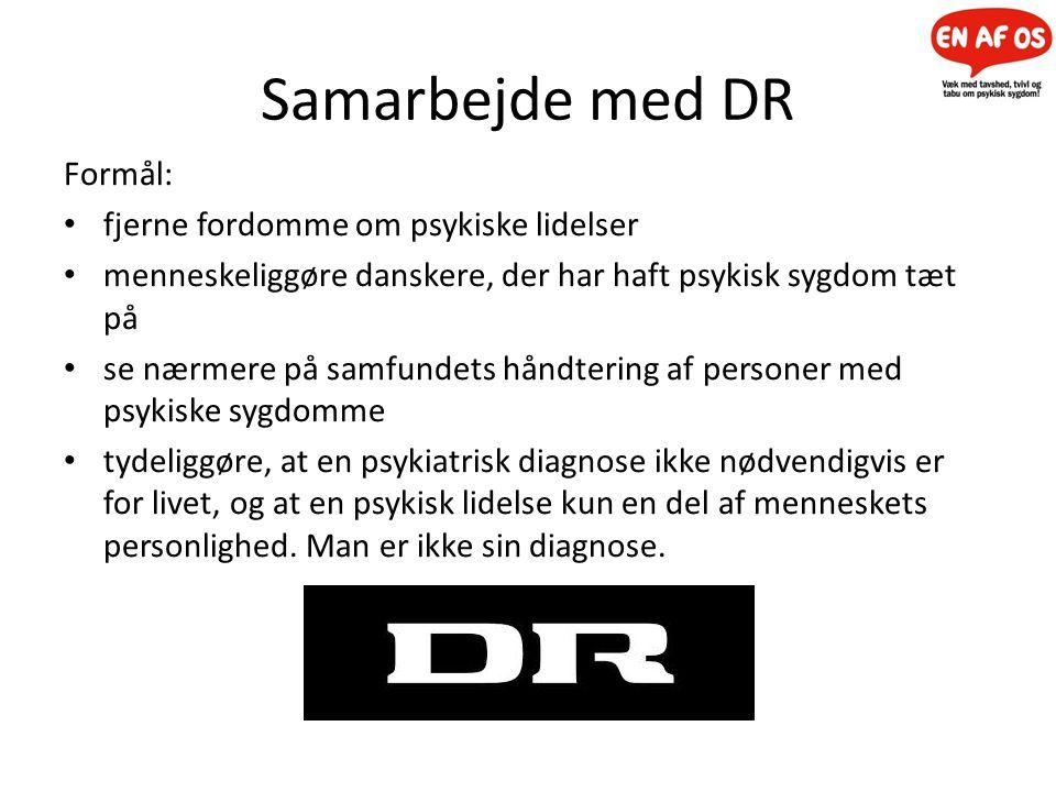 Samarbejde med DR Formål: fjerne fordomme om psykiske lidelser