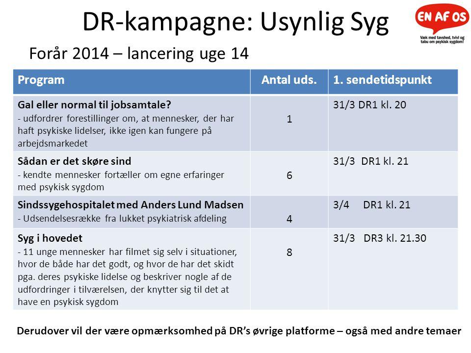 DR-kampagne: Usynlig Syg