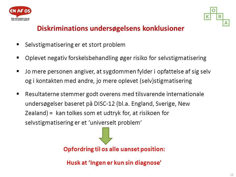 Diskriminations undersøgelsens konklusioner