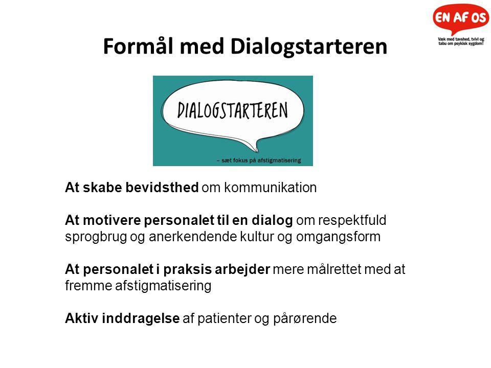 Formål med Dialogstarteren