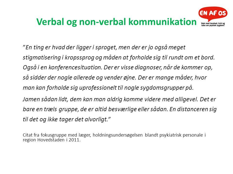 Verbal og non-verbal kommunikation