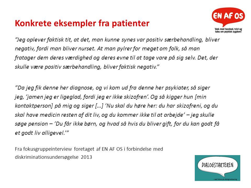 Konkrete eksempler fra patienter