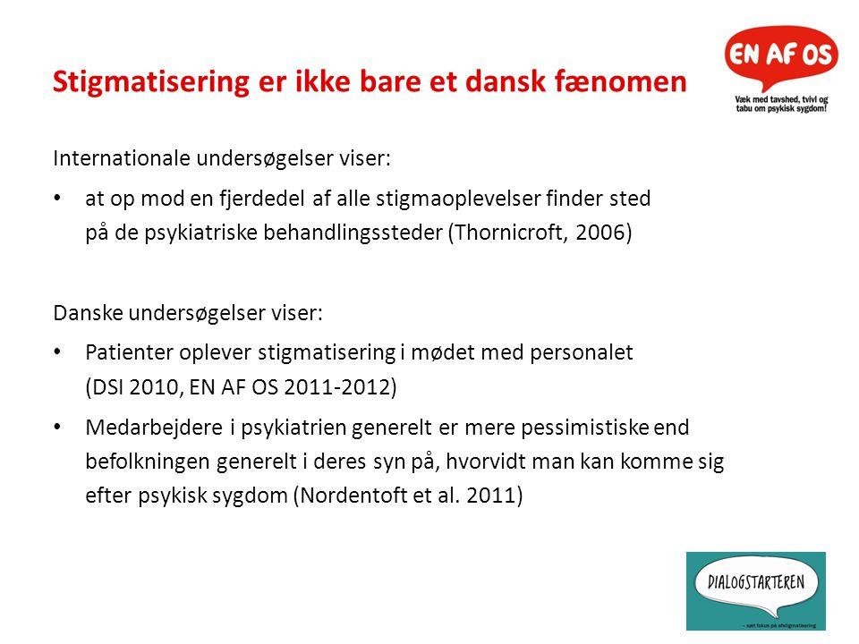 Stigmatisering er ikke bare et dansk fænomen