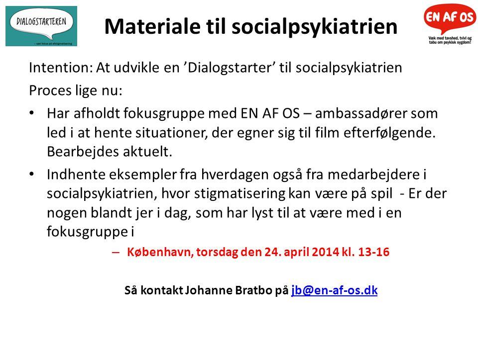 Materiale til socialpsykiatrien