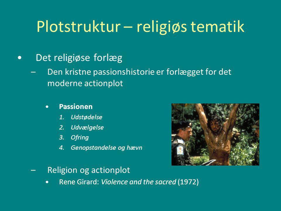 Plotstruktur – religiøs tematik