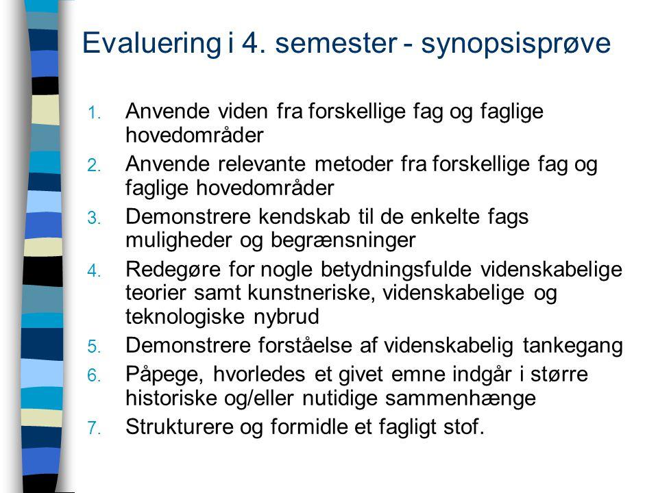 Evaluering i 4. semester - synopsisprøve