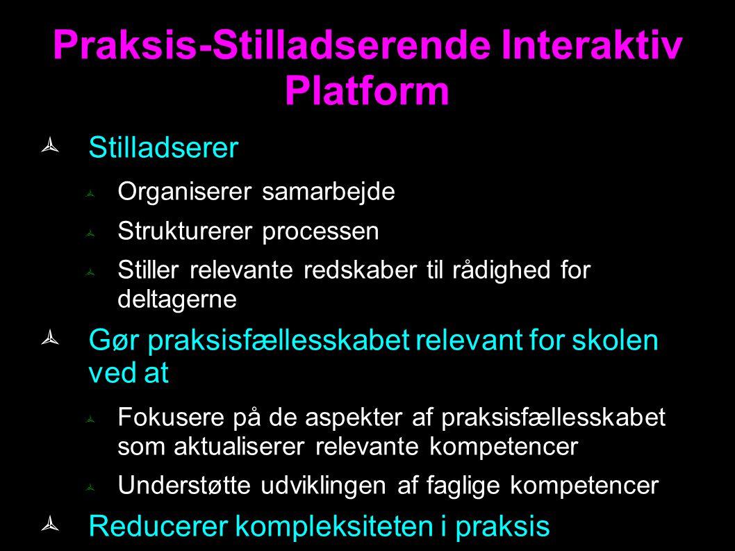 Praksis-Stilladserende Interaktiv Platform
