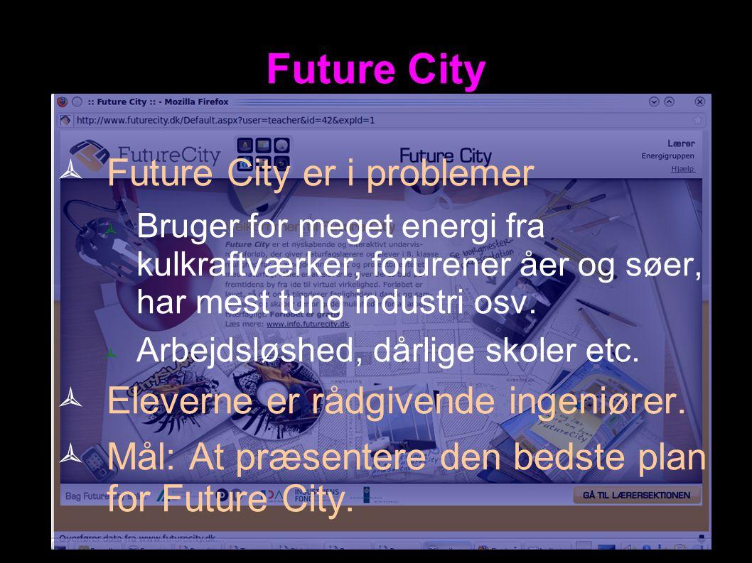 Future City Future City er i problemer
