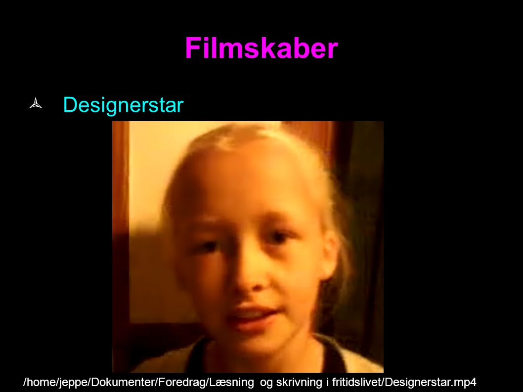 Filmskaber Designerstar