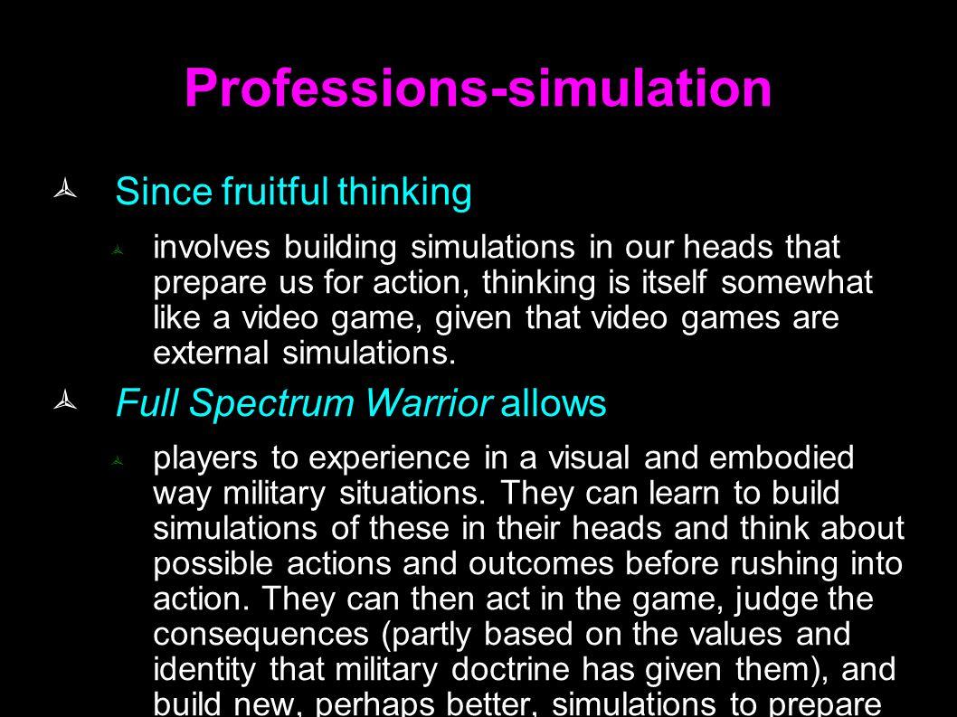 Professions-simulation