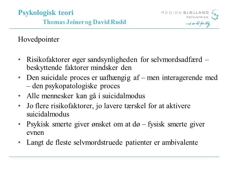 Psykologisk teori Thomas Joiner og David Rudd