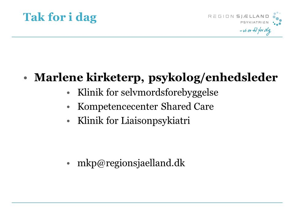 Marlene kirketerp, psykolog/enhedsleder