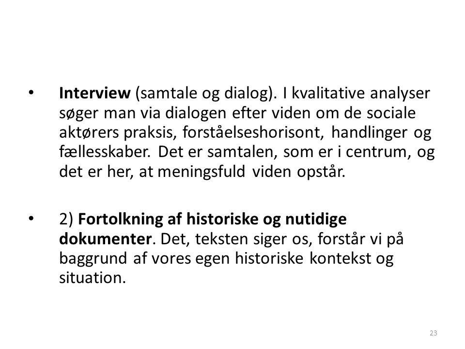 Interview (samtale og dialog)