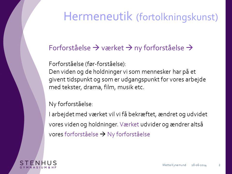 Hermeneutik (fortolkningskunst)