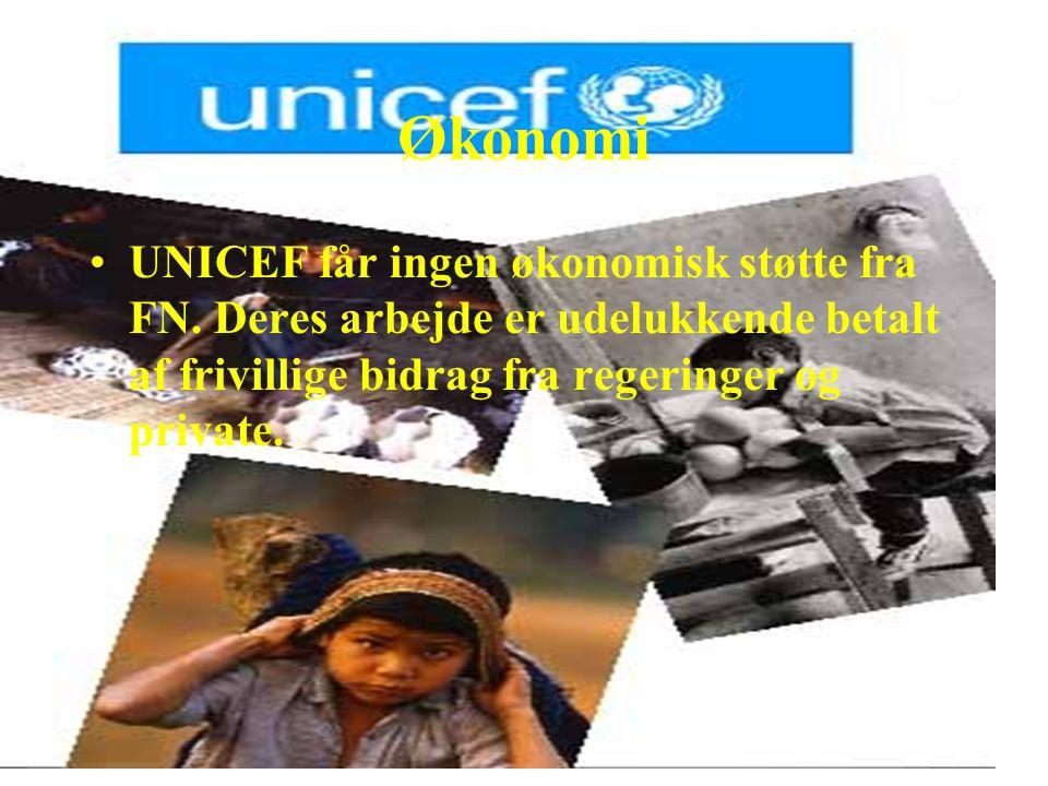 Økonomi UNICEF får ingen økonomisk støtte fra FN.