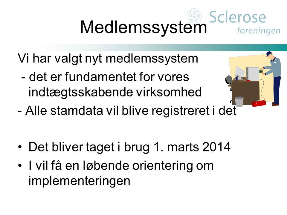 Medlemssystem Vi har valgt nyt medlemssystem