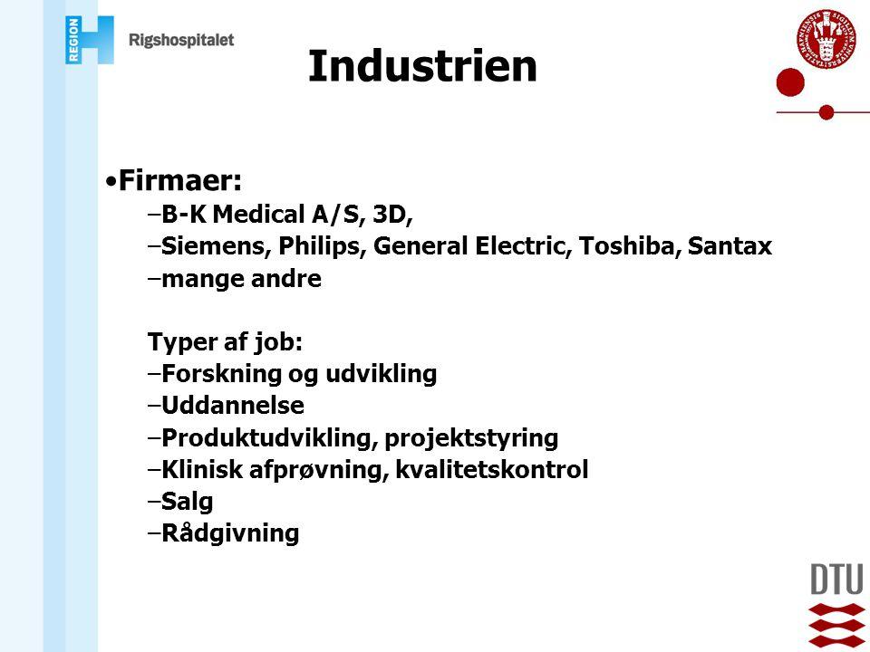Industrien Firmaer: B-K Medical A/S, 3D,