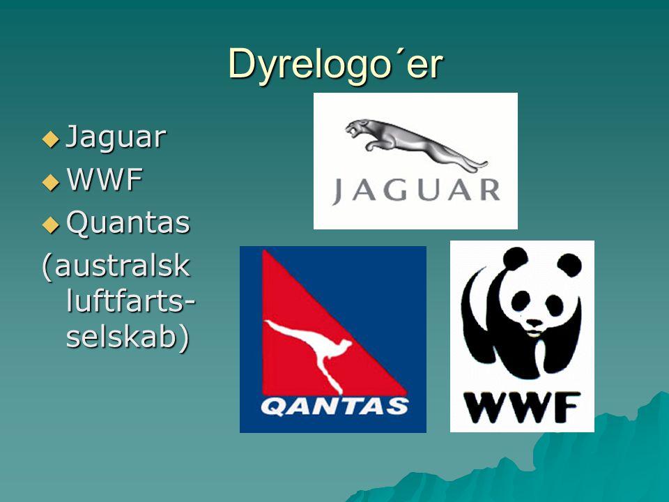 Dyrelogo´er Jaguar WWF Quantas (australsk luftfarts-selskab)
