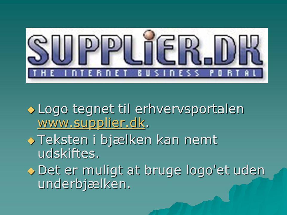 Logo tegnet til erhvervsportalen www.supplier.dk.
