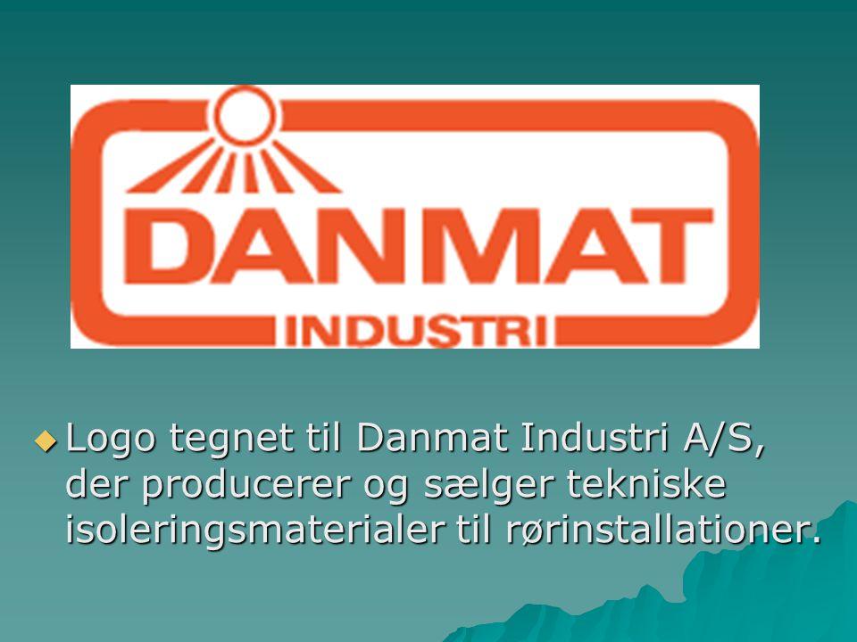 Logo tegnet til Danmat Industri A/S, der producerer og sælger tekniske isoleringsmaterialer til rørinstallationer.