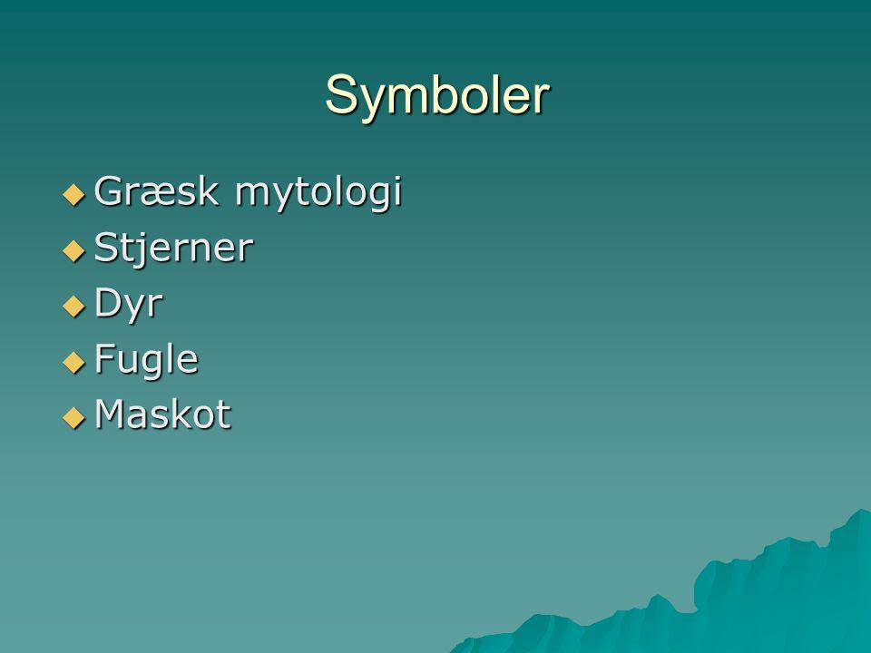 Symboler Græsk mytologi Stjerner Dyr Fugle Maskot