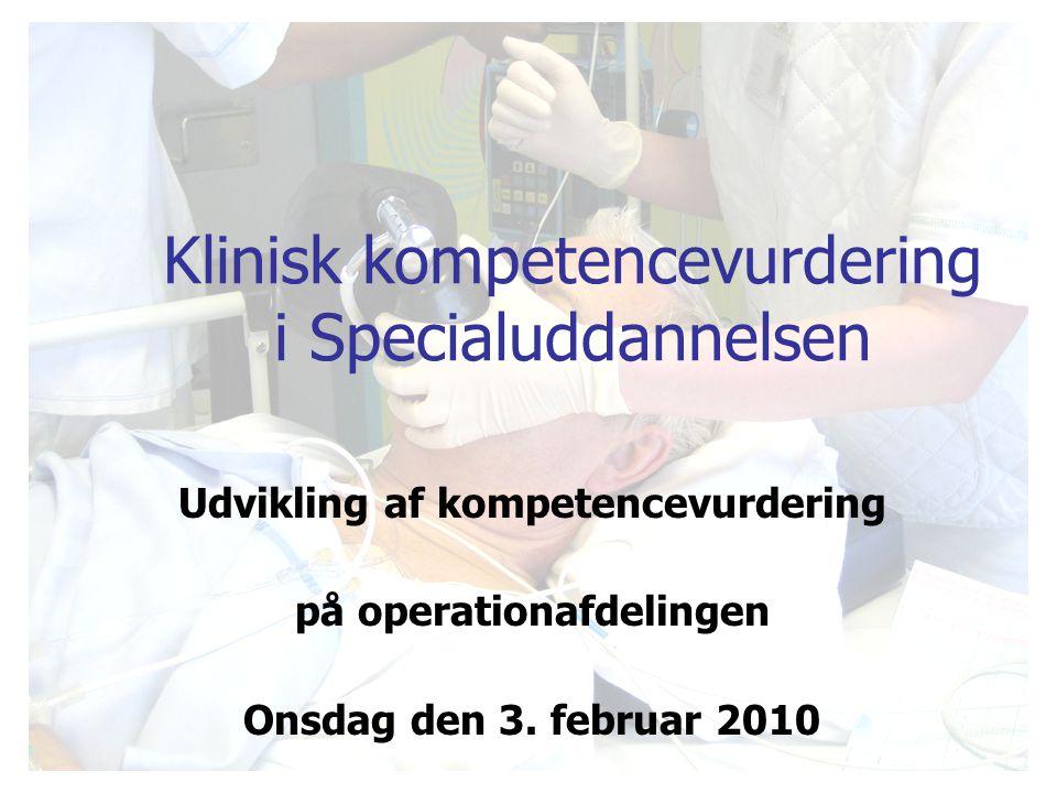 Klinisk kompetencevurdering i Specialuddannelsen