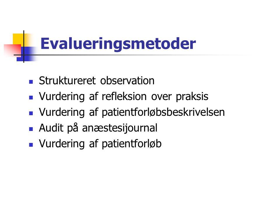 Evalueringsmetoder Struktureret observation