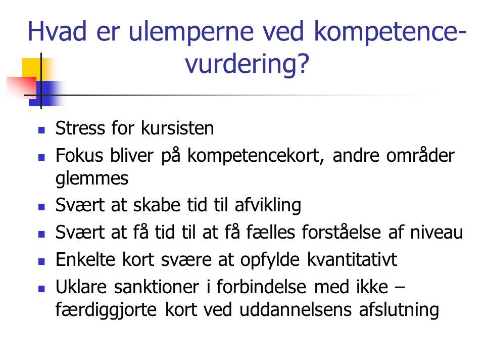 Hvad er ulemperne ved kompetence-vurdering