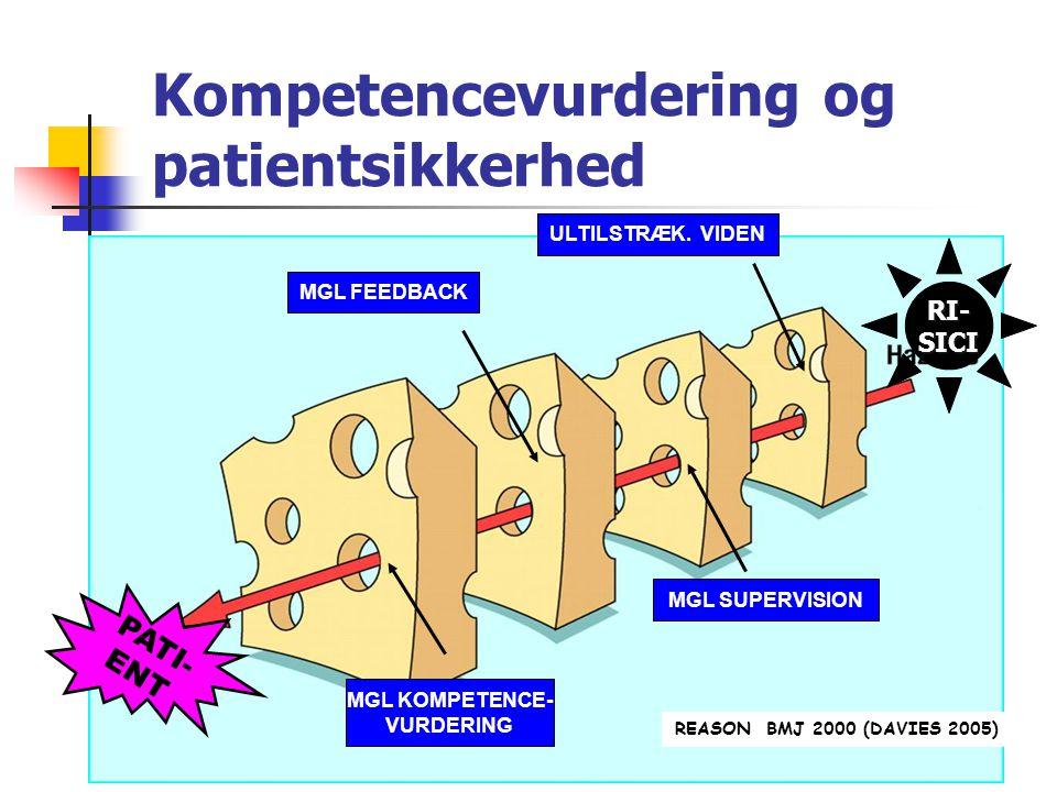 Kompetencevurdering og patientsikkerhed