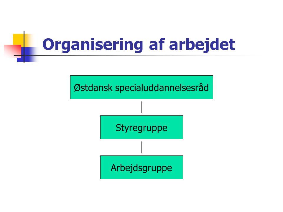 Organisering af arbejdet
