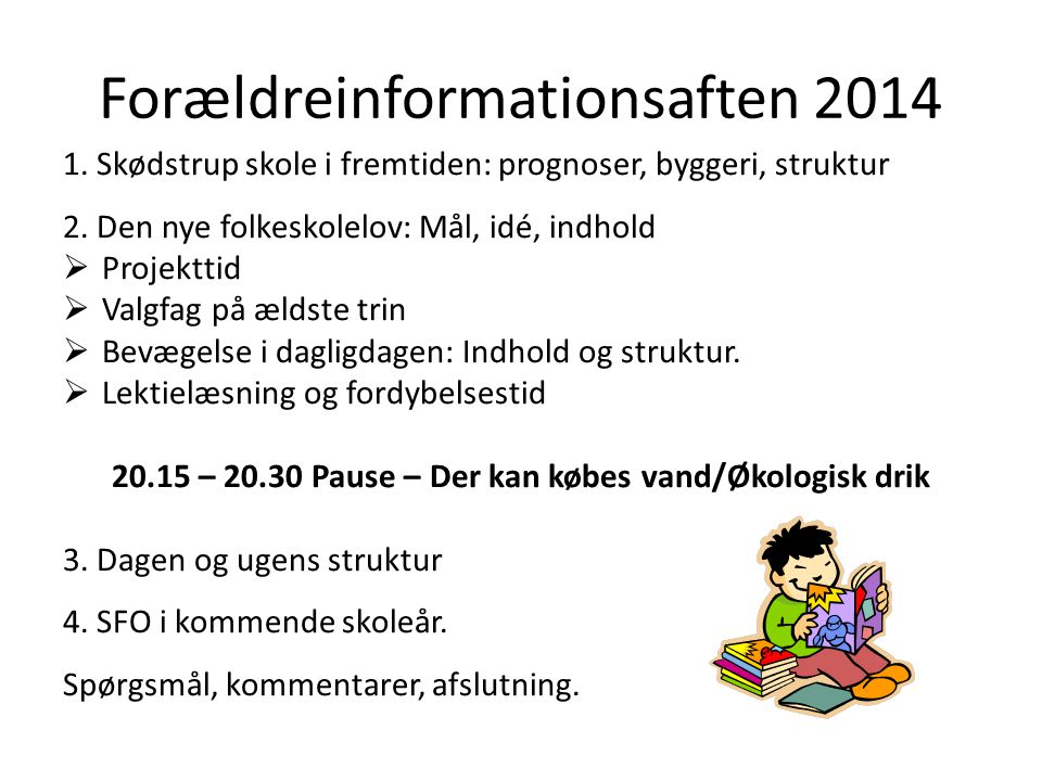 Forældreinformationsaften 2014