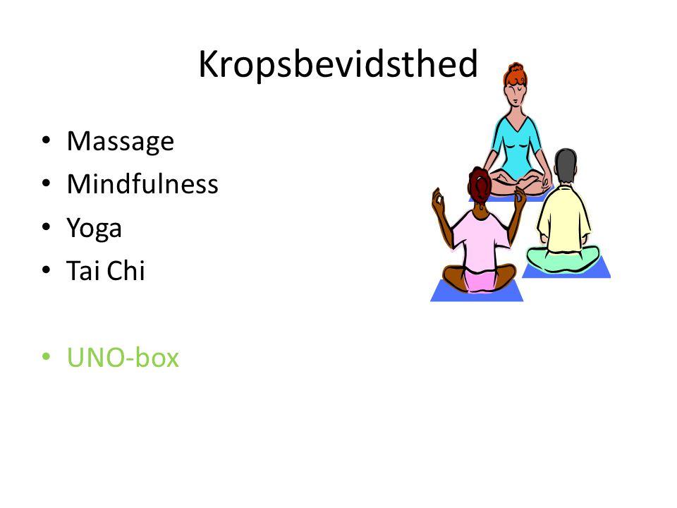 Kropsbevidsthed Massage Mindfulness Yoga Tai Chi UNO-box