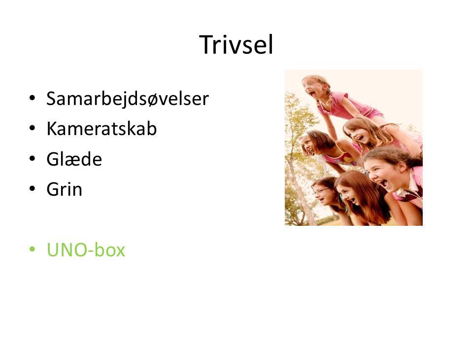 Trivsel Samarbejdsøvelser Kameratskab Glæde Grin UNO-box