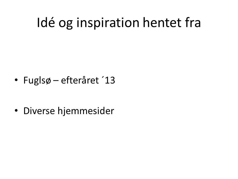 Idé og inspiration hentet fra