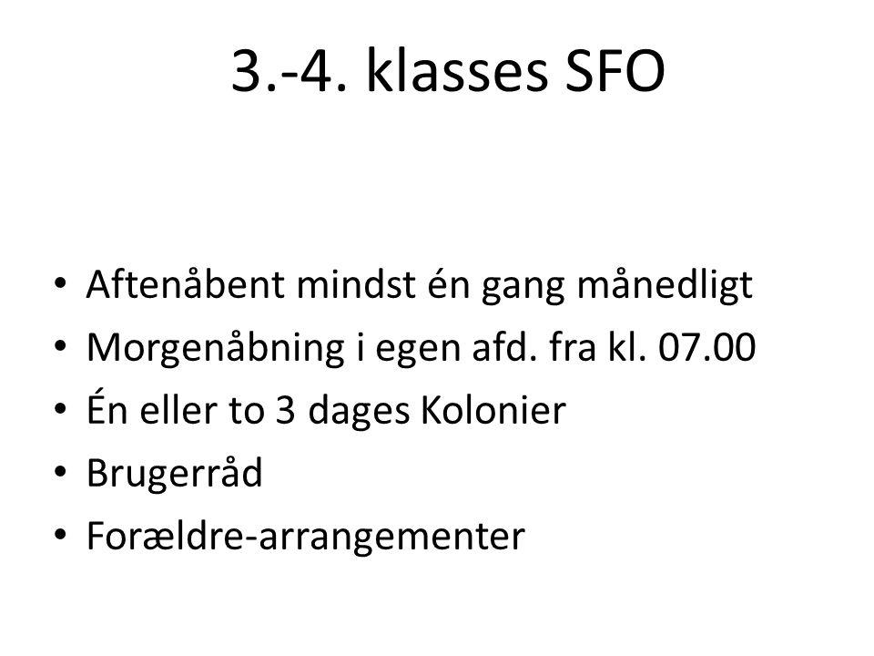 3.-4. klasses SFO Aftenåbent mindst én gang månedligt