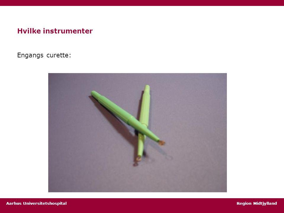 Hvilke instrumenter Engangs curette:
