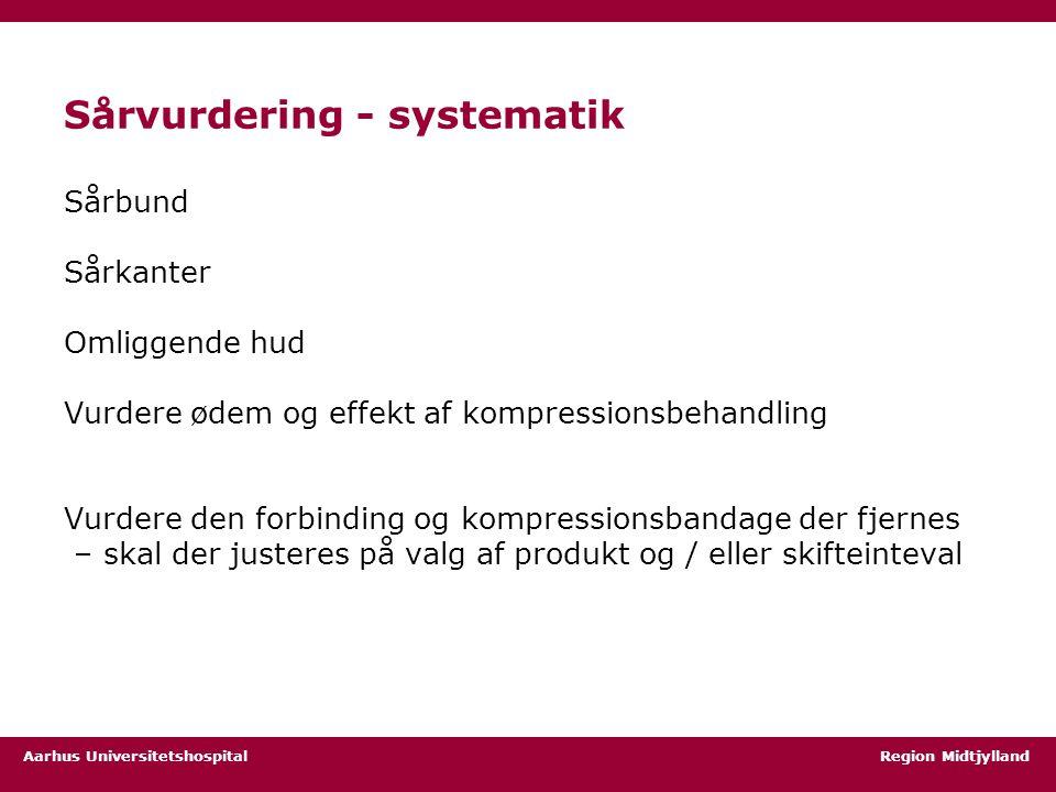 Sårvurdering - systematik
