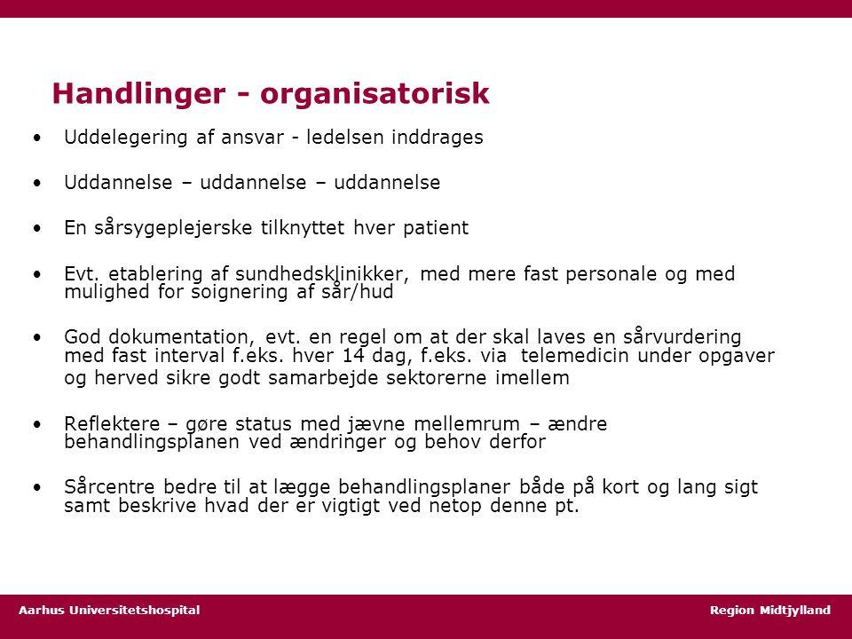 Handlinger - organisatorisk