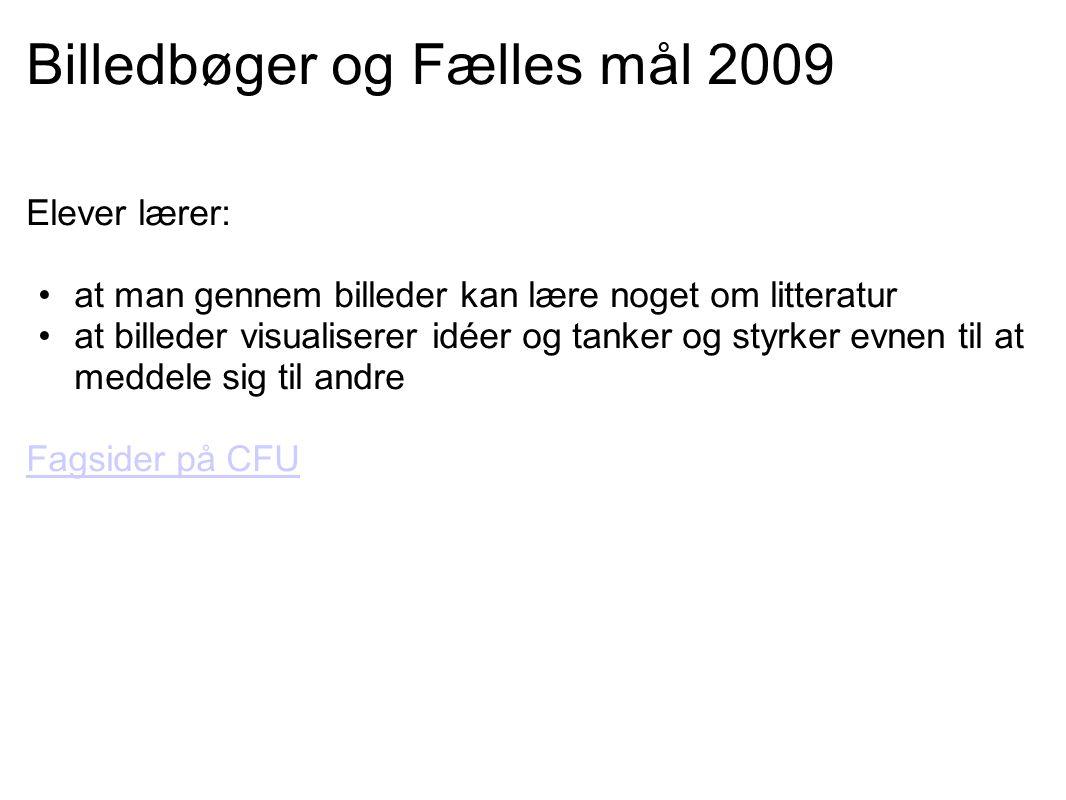 Billedbøger og Fælles mål 2009